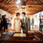 stone house wedding ceremony